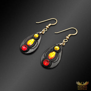 Magickal, Fiery Earrings with 14K Gold-Filled Earwire (Small) - wizArts