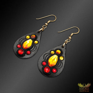 Magickal, Fiery Earrings with 14K Gold-Filled Earwire - wizArts