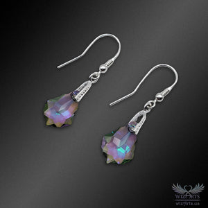 Swarovski Earrings with 925 Sterling Silver Earwire (Baroque) - wizArts