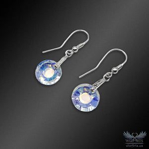 Swarovski Earrings with 925 Sterling Silver Hooks (Sun) - wizArts