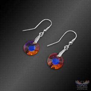Swarovski Earrings with 925 Sterling Silver Earwire (Iridescent Sun 3) - wizArts