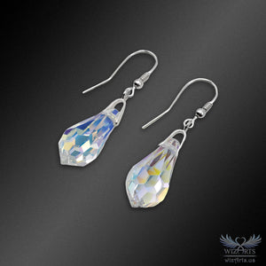 Swarovski Earrings with 925 Sterling Silver Earwire (Teardrop) - wizArts