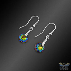 Swarovski Earrings with 925 Sterling Silver Earwire (Vitrail Classic Cut) - wizArts