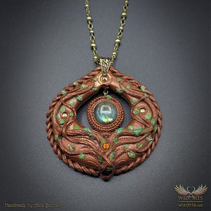 *Forest Elf Talisman* Handmade, Magical Art Necklace - wizArts