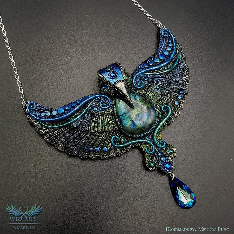 *The Bluebird of Magick* - Wearable Art Necklace - wizArts
