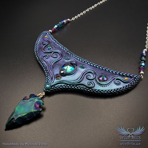 *Celestial Bow* - An Iridescent, Magical Art Necklace - wizArts