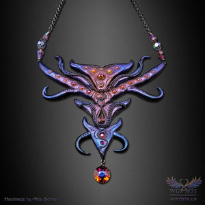 *The Devil's Reach* An Iridescent, Magical Art Statement Necklace (V2) - wizArts