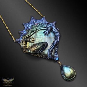*The Dragon's Embrace* - A Unique, Iridescent (Color-Shifting) Art Necklace - wizArts