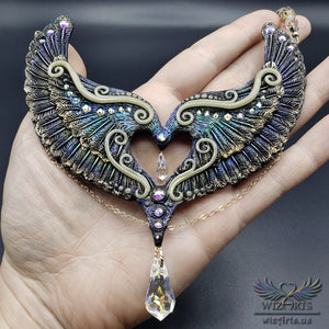 *Eternal Love* Hand-Sculpted, Glow-in-the-Dark Polymer Clay Necklace