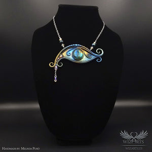 *The Eye of the Universe* Handmade Polymer Clay and Labradorite Necklace - wizArts