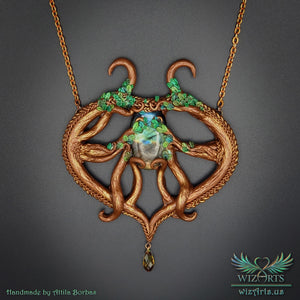 *Spirit of the Forest* Handmade, Magical Art Necklace - wizArts