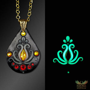*Eternal Fire* Handmade, Glow-in-the-Dark Necklace - wizArts