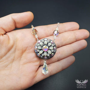 *Flowers of the Night* Handmade, Iridescent, Holographic, Glow-in-the-Dark Necklace - wizArts