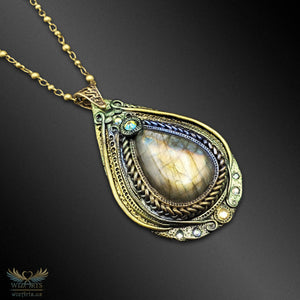 """Tear of the Ancients"" - A Unique, Iridescent (Color-Shifting) Magical Art Necklace - wizArts"