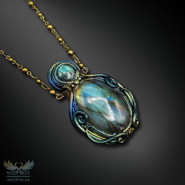 *Blue Aurora* A Unique and Magical Art Necklace - wizArts
