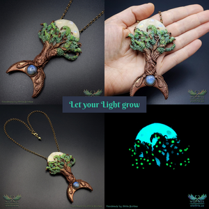 *Let Your Light Grow* - A Unique and Magical Art Necklace