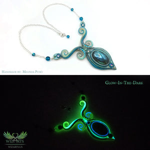 *Glowing Aurora* Wearable Art Necklace - wizArts