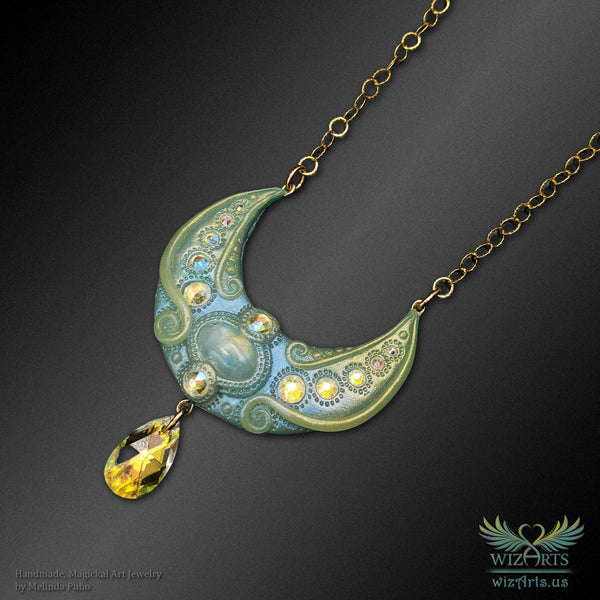 *MoonDawn* Glow-in-the-Dark Art Necklace - wizArts