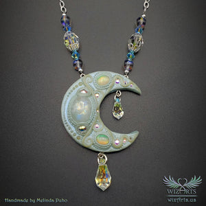 *MoonGlow* Glow-In-The-Dark Art Necklace - wizArts