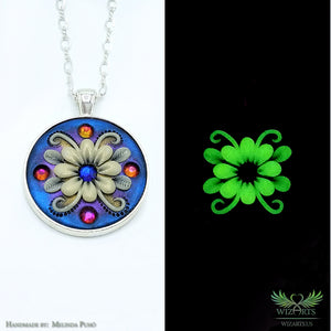 *Flower of the Night* Glow-in-the-Dark Pendant
