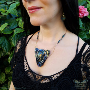 *Orion Nebula* Labradorite Necklace Unique Wearable Art - wizArts