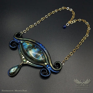 *Orion's Eye* Hand-sculpted, One-of-a-Kind Wearable Art Necklace