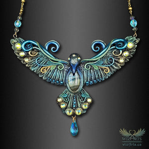 *Corvus Phantasia* - A Unique and Magical Statement Necklace - wizArts