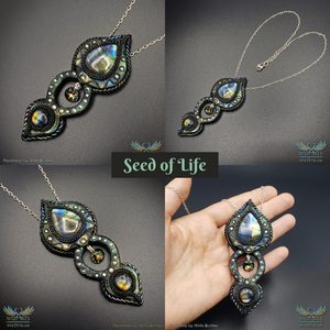 *Seed of Life* Handmade, Magical Art Necklace