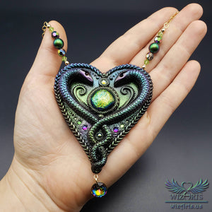 *Kundalini* Hand-Sculpted, Magical Art Necklace - wizArts