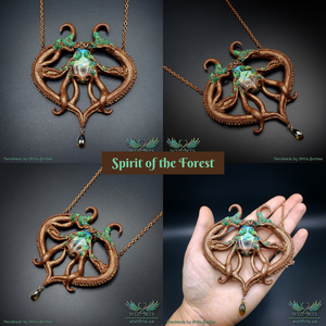 *Spirit of the Forest* Handmade, Magical Art Necklace