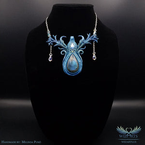 *Tears of Aurora* - Glow-in-the-Dark Wearable Art Necklace - wizArts