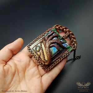*Reaching Out to the Sky* Handmade, Magical Wearable art Pendant