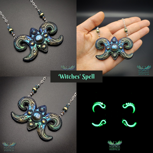 *Witches' Spell* Glow-in-the-Dark, Magical Art Necklace - wizArts