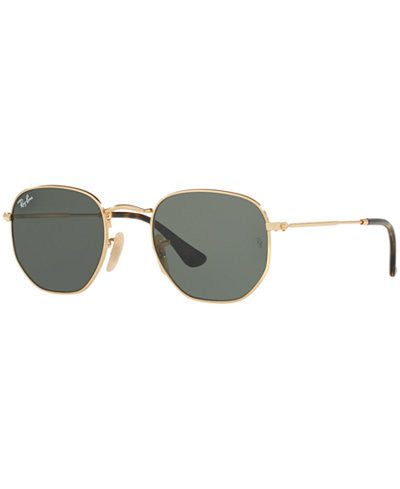 RAY-BAN HEXAGONAL GOLD/GREEN RB3548N-001