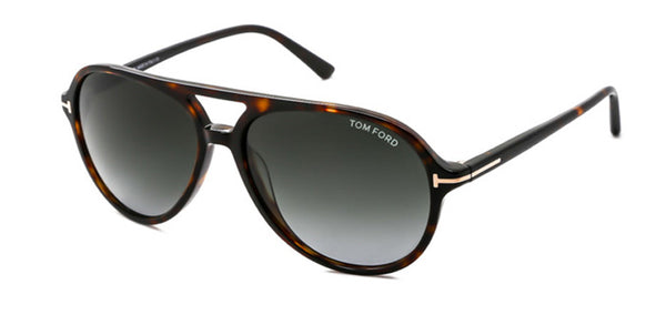TOM FORD JARED - HAVANA / GREEN GRAY GRADIENT FT0331-56P-58