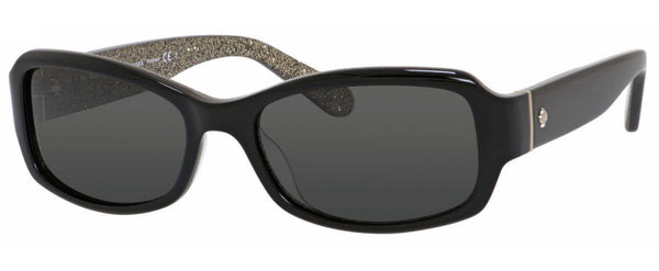 KATE SPADE ADLEY - BLACK GLITTER / GRAY POLARIZED KS-ADLEY-JLQPY2