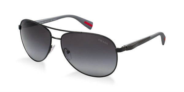 PRADA AVIATOR WIRE - BLACK / SMOKED GRADIENT PS51OS-7AX5W1-62