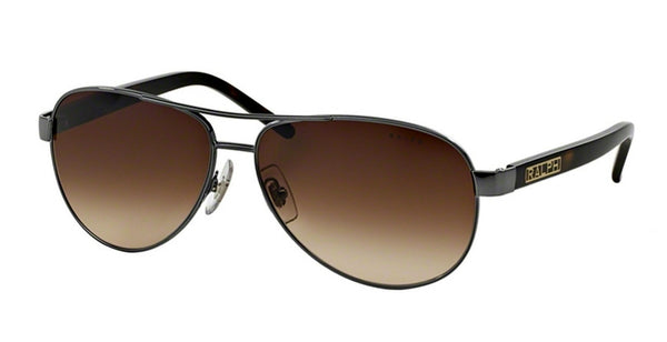 RALPH LAUREN WOMAN AVIATOR - GUNMETAL GREY HORN / BROWN GRADIENT RA4004-10313-59