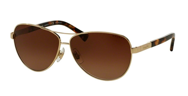 RALPH LAUREN AVIATOR - LIGHT GOLD / BROWN GRADIENT RA4116-3138T5-60