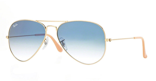 RAY-BAN AVIATOR GOLD/CRYSTAL LIGHT BLUE GRADIENT RB3025-001/3F