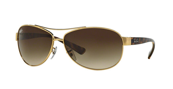 RAY-BAN AVIATOR GOLD TORTOISE/ BROWN GRADIENT RB3386-001/13