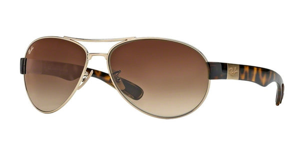 RAY-BAN AVIATOR ARISTA GOLD/BROWN GRADIENT RB3509-001/13