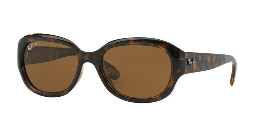 RAY-BAN POLARIZED LIGHT HAVANA TORTOISE/BROWN RB4198-710/57