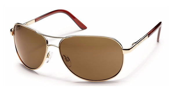 SUNCLOUD AVIATOR - GOLD / POLARIZED BROWN S-AVPPBRGD