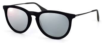 RAY-BAN ERIKA VELVET BLACK/GREY MIRROR SILVER RB4171-60756G