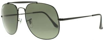 RAY-BAN POLARIZED BLACK/GREEN RB3561-002/58