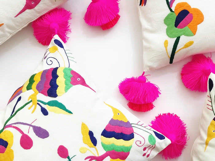 Otomi Tassel Pillow Cover