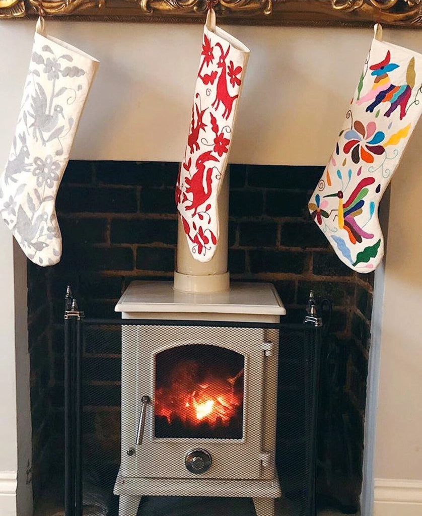 RED OTOMI CHRISTMAS STOCKING