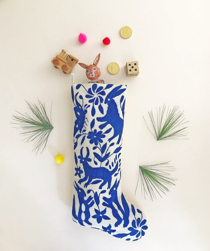 BLUE OTOMI CHRISTMAS STOCKING