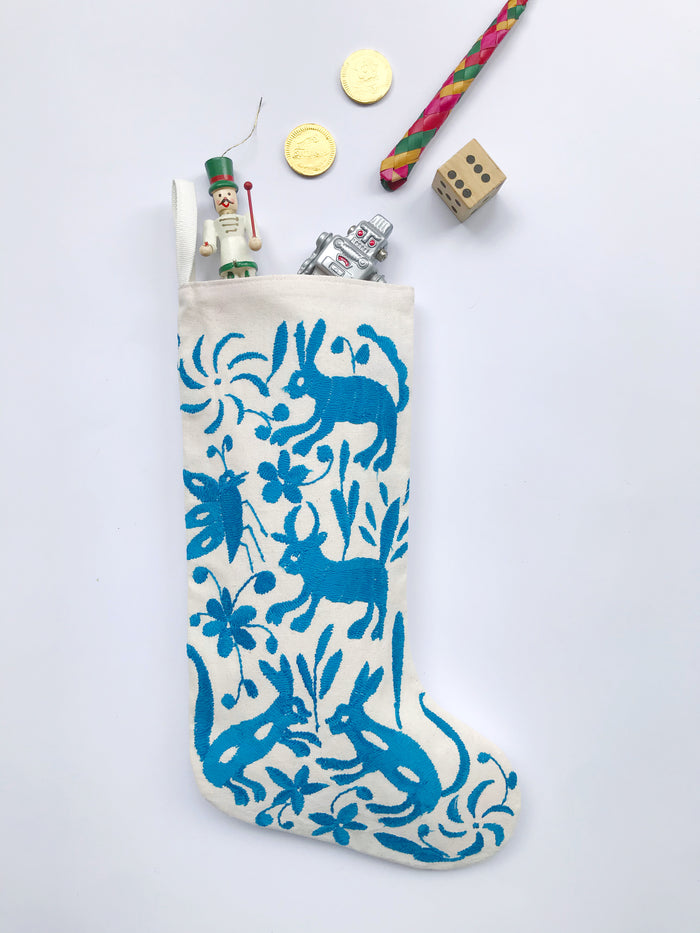 SKY BLUE OTOMI CHRISTMAS STOCKING